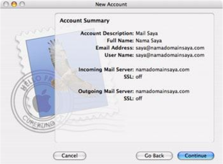setting mail pada mac